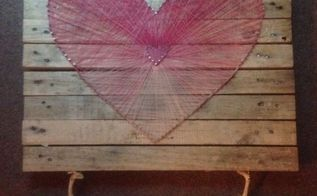 pallet wood string art, how to, pallet, repurposing upcycling, storage ideas