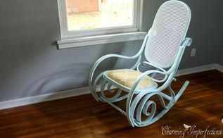 how to upholster and paint a bentwood rocking chair, how to, painted furniture, reupholster