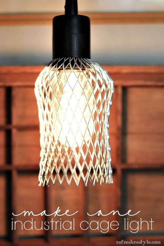 How to Make an Farmhouse - Industrial Cage for Your Light | Hometalk