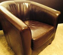 leather seat makeover, painted furniture