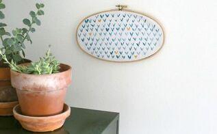 embroidery hoop art diy, crafts, repurposing upcycling, wall decor