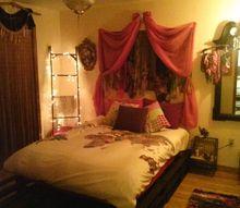 girl s bohemian bedroom, bedroom ideas, repurposing upcycling, After