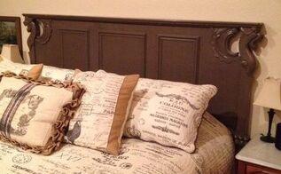 repurposed old sofa turned headboard, bedroom ideas, painted furniture, repurposing upcycling, reupholster