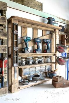 from pallet middle sections to workshop storage, organizing, pallet, repurposing upcycling, storage ideas, woodworking projects