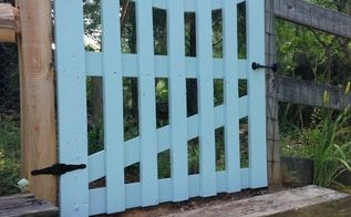 garden gate via pallet boards, fences, how to, pallet, repurposing upcycling