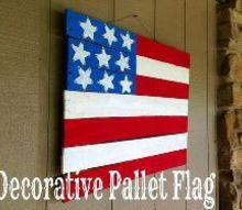 decorative pallet flag, crafts, pallet, patriotic decor ideas, repurposing upcycling, seasonal holiday decor, wall decor
