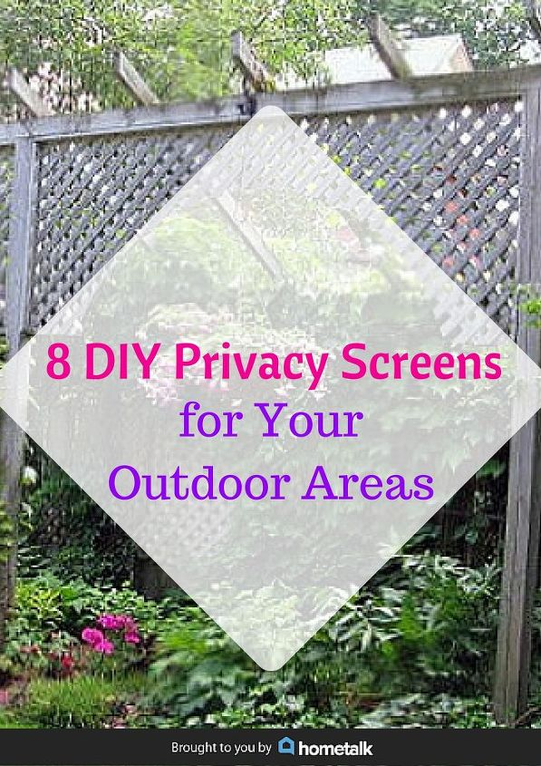 8 diy privacy screens for your outdoor areas hometalk for How to add privacy to backyard