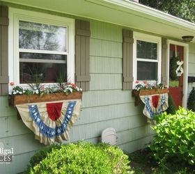 diy patriotic bunting from thrift store fabric curb appeal how to patriotic decor