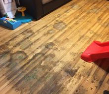q how to refinish stained hardwood floors, flooring, hardwood floors, home maintenance repairs