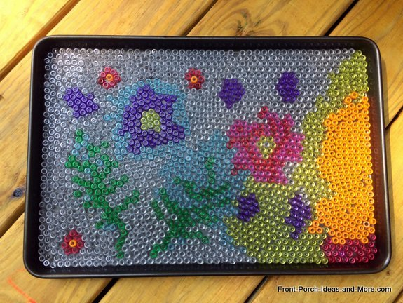 diy bead project turned cool garden art crafts gardening how to outdoor