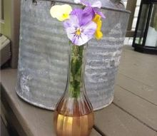 thrift store vase makeover on the cheap, crafts