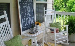 chalkboard welcome sign, chalkboard paint, crafts, repurposing upcycling