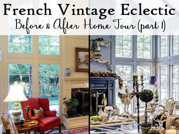 French Vintage Eclectic Living Room Ideas