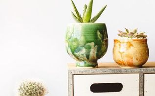 how to create high end hand made pots with cheap containers, container gardening, flowers, gardening, repurposing upcycling, succulents