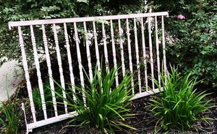 american flag crib rails, chalk paint, gardening, outdoor living, painted furniture, painting, patriotic decor ideas, repurposing upcycling, seasonal holiday decor