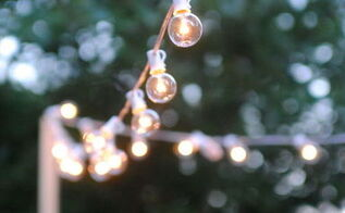 how to hang outdoor string lights for a magical glow, how to, lighting, outdoor living