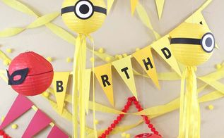 diy minions birthday party ideas banner with sizzix eclips2, crafts, how to