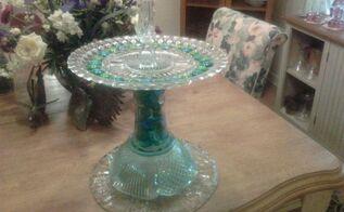 recycled glassware to garden bird bath, crafts, pets animals, repurposing upcycling