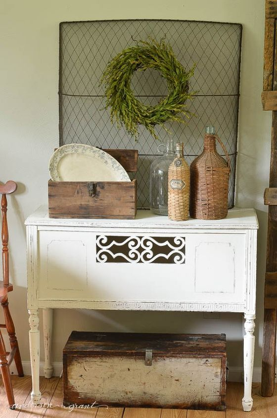 Decorating With Yard Sale And Thrift Store Finds Home Decor Painted Furniture Repurposing