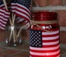 patriotic mason jar, crafts, how to, mason jars, patriotic decor ideas, seasonal holiday decor