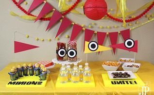 minions birthday party d cor, crafts