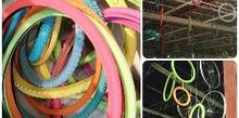 upcycled tires to colorful event decor, chalk paint, home decor, repurposing upcycling