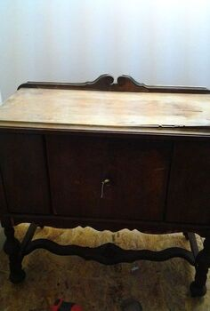 distressed farm sideboard, painted furniture, repurposing upcycling, Sideboard in need of help