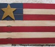 repurposed paint stirrers to flag, how to, patriotic decor ideas, repurposing upcycling, seasonal holiday decor