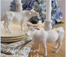 farmhouse candlesticks from repurposed toys, crafts, how to, repurposing upcycling