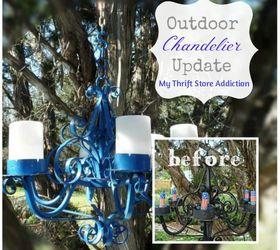 Outdoor Chandelier Update, Lighting, Outdoor Living, Patriotic Decor Ideas,  Repurposing Upcycling,