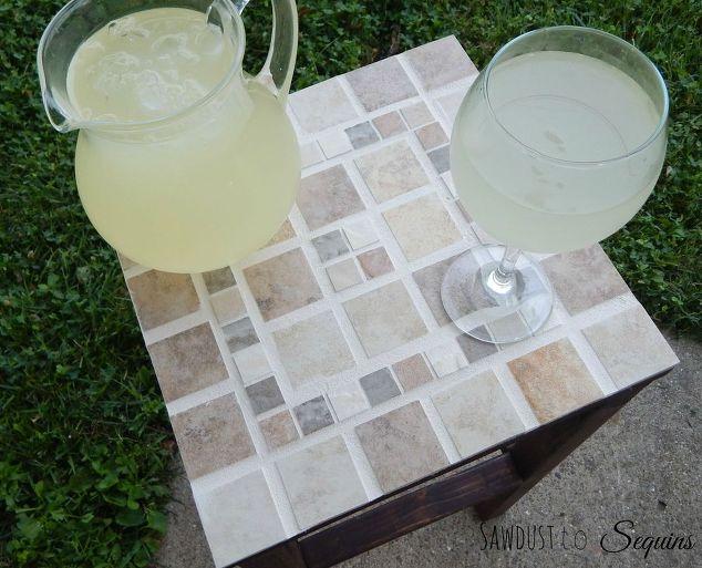 DIY Tiled End Table Hometalk