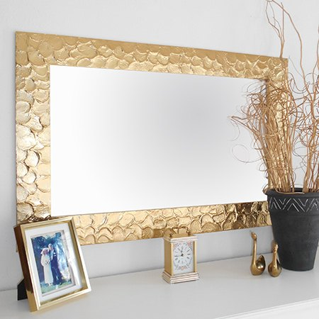 diy knock off metallic mirror frame hometalk