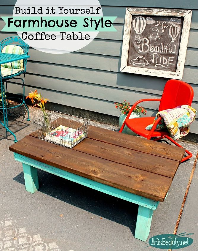 Diy Build It Yourself Vintage Inspired Farmhouse Style Coffee Table Diy How To