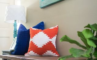 diy kilim inspired painted pillow, crafts, how to, reupholster