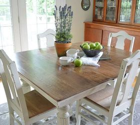 Chalk Paint Grandmas Antique Dining Table and Chairs Hometalk