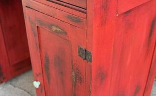 let your colors burst vintage desk makeover, painted furniture, repurposing upcycling