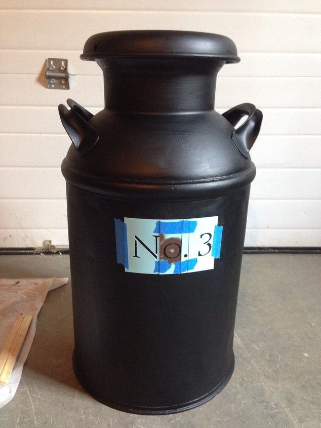 Repurposed milk can to house number hometalk for Repurposed milk cans