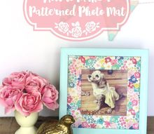 how to make plain photo mats pop with pattern, crafts, how to