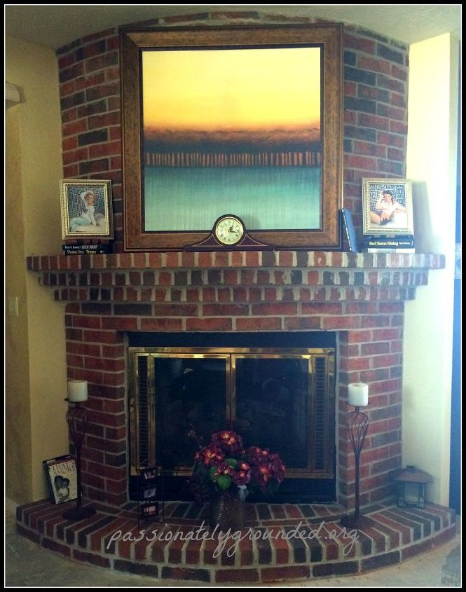 Fireplace Design fireplace caulk : Painted Brick Fireplace | Hometalk