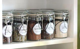 free vintage inspired spice pantry labels, closet, kitchen design, organizing, storage ideas