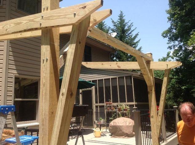 Cantilevered Pergola DIY Designed And Built Hometalk