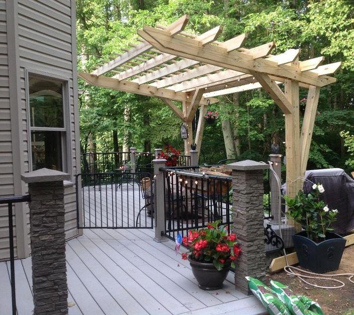 Pergola Trellis Designs: Cantilevered Pergola -- DIY Designed And Built