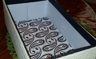 repurposed shoebox turned into basket, crafts, how to, repurposing upcycling