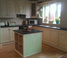 kitchen painted with van gogh chalk paint, chalk paint, kitchen cabinets, kitchen design, painting, tiling