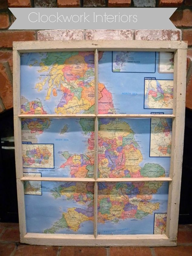 Decorating With Old Windows And Maps Hometalk