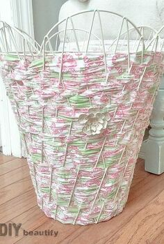 how to transform a wire basket with fabric, crafts, how to, reupholster