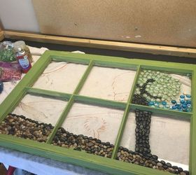 How to Make a Marble Mosaic on an Old Window Frame! | Hometalk