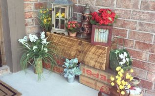 unique porch decor, outdoor living, porches, repurposing upcycling, Welcome