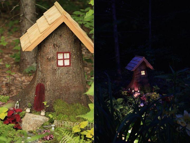 Tree Stump To Fairy House Hometalk