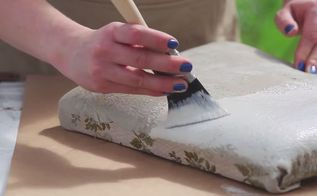 how to paint a fabric chair upholstered furniture painting tutorial, how to, painted furniture, reupholster, Step 4 Add a second coat if needed